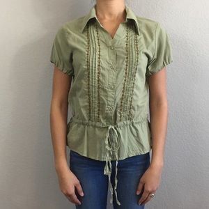 NWOT  Sage Blouse with Beads & Sequins